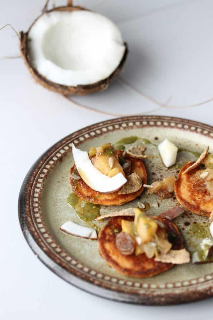 Coconut Hummus Pancakes - Truefoodsblog