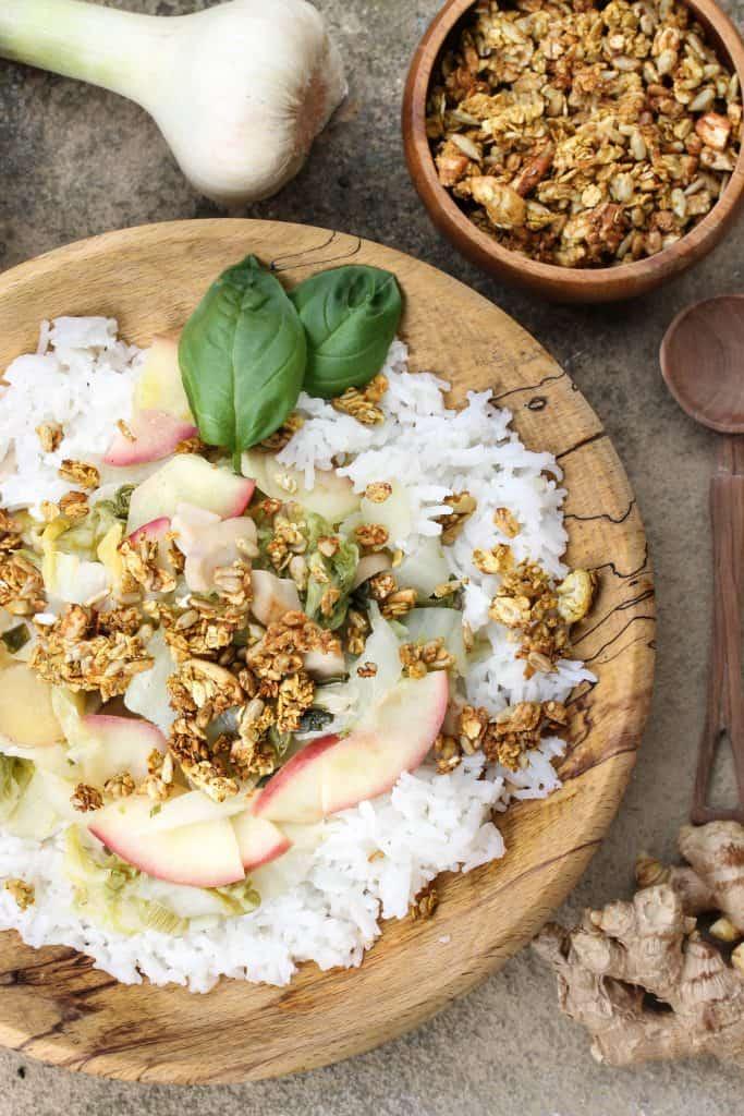 Savoury granola - Truefoodsblog