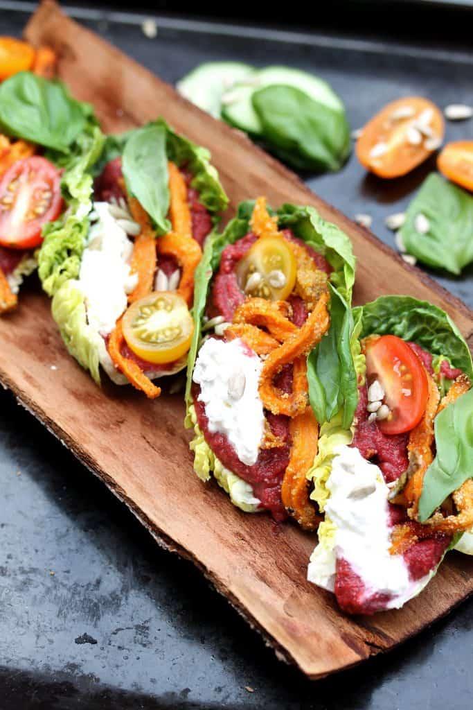 Vegetarian Lettuce Wraps - Truefoodsblog