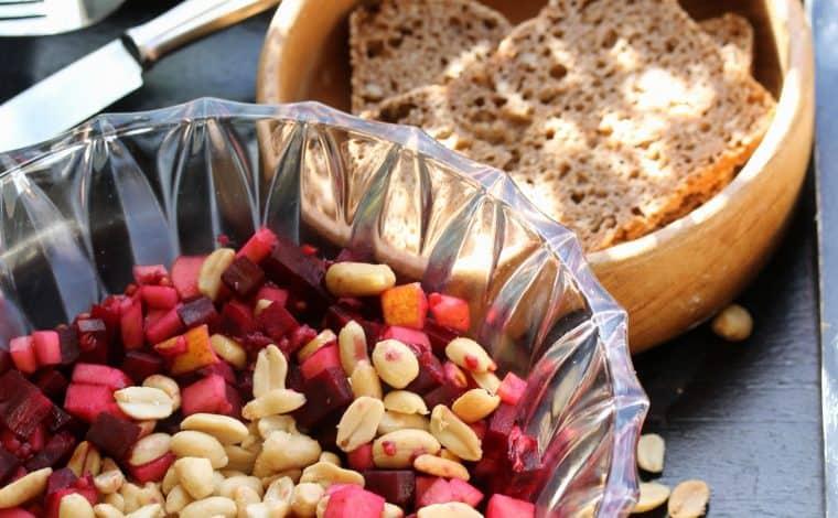 Beet Apple Peanut Salad - Truefoodsblog