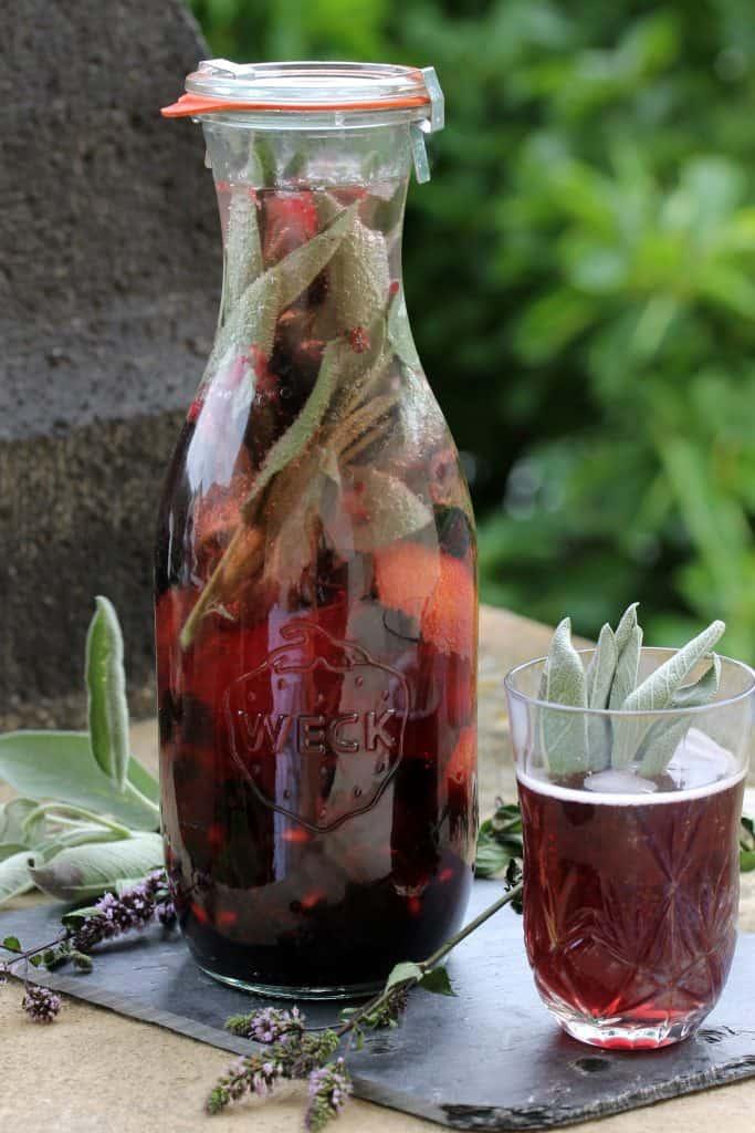 Blackberry Sage Elderflower Lemonade - Truefoodsblog