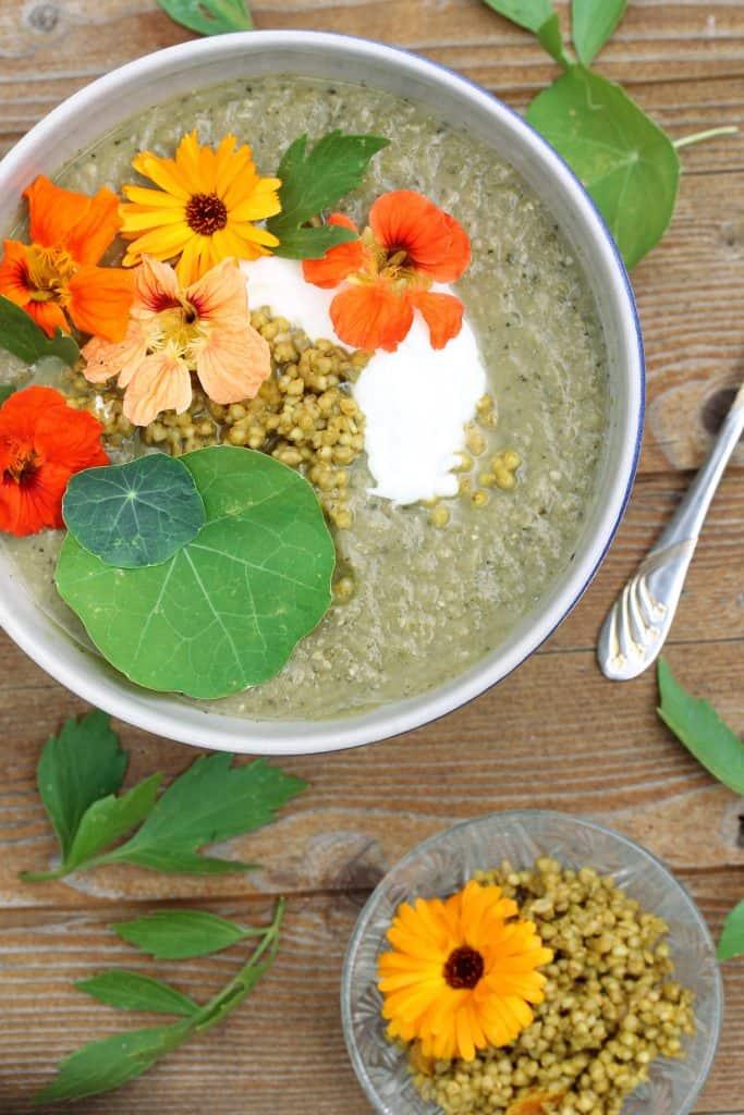 Zucchini Coconut Soup - Truefoodsblog