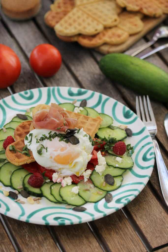 Savoury Wholegrain Breakfast Waffles - Truefoodsblog