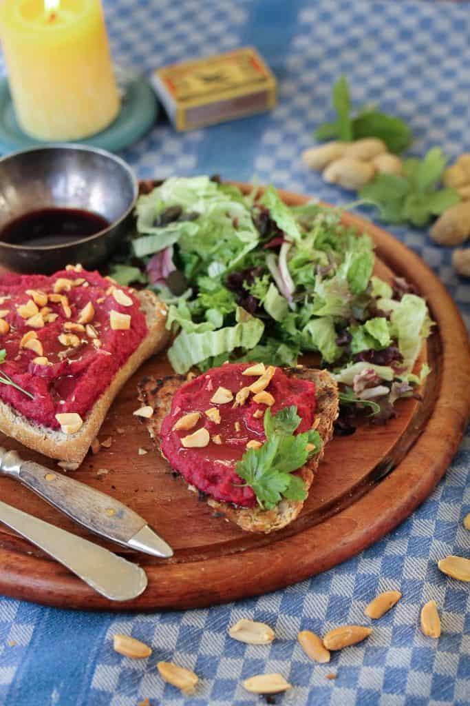 Red Beet Bruschetta Truefoodsblog