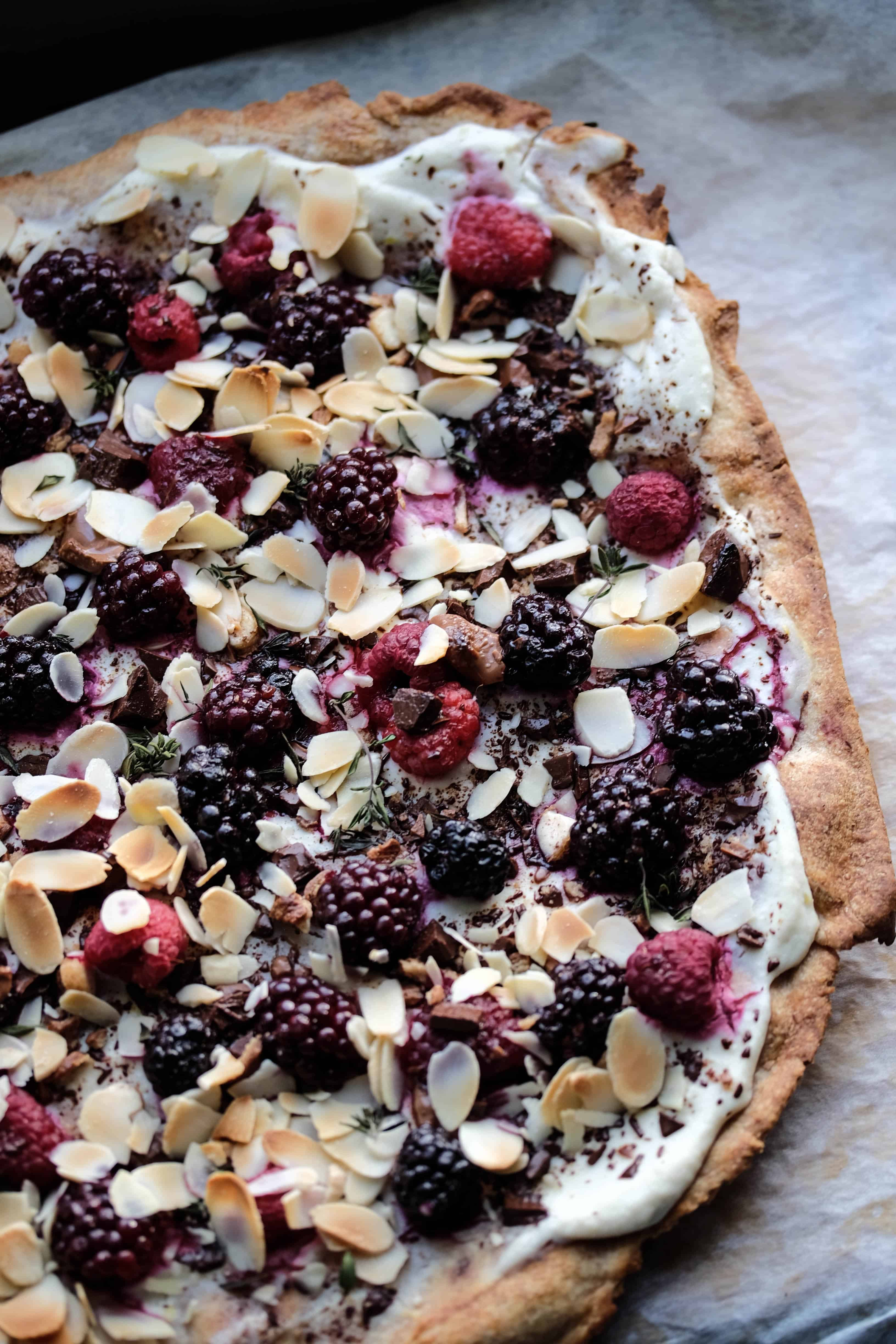 "Sweet Pizza ""Blackberry, Ricotta, Chocolate Love"""