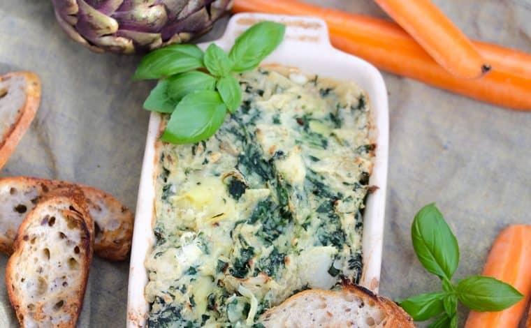 Vegan Spinach'n Artichoke Dip - Truefoodsblog