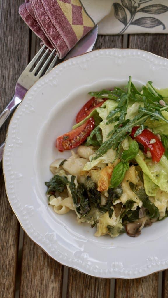 Vegetarian New Zealand Spinach gratin - Salad - Truefoodsblog