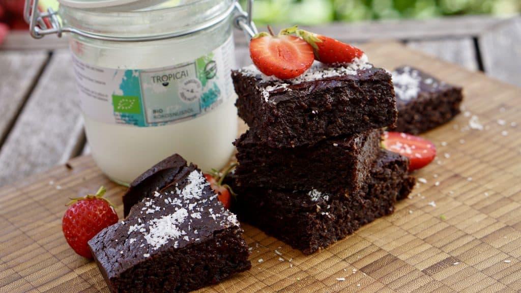 Vegan Coconut Chocolate Brownies