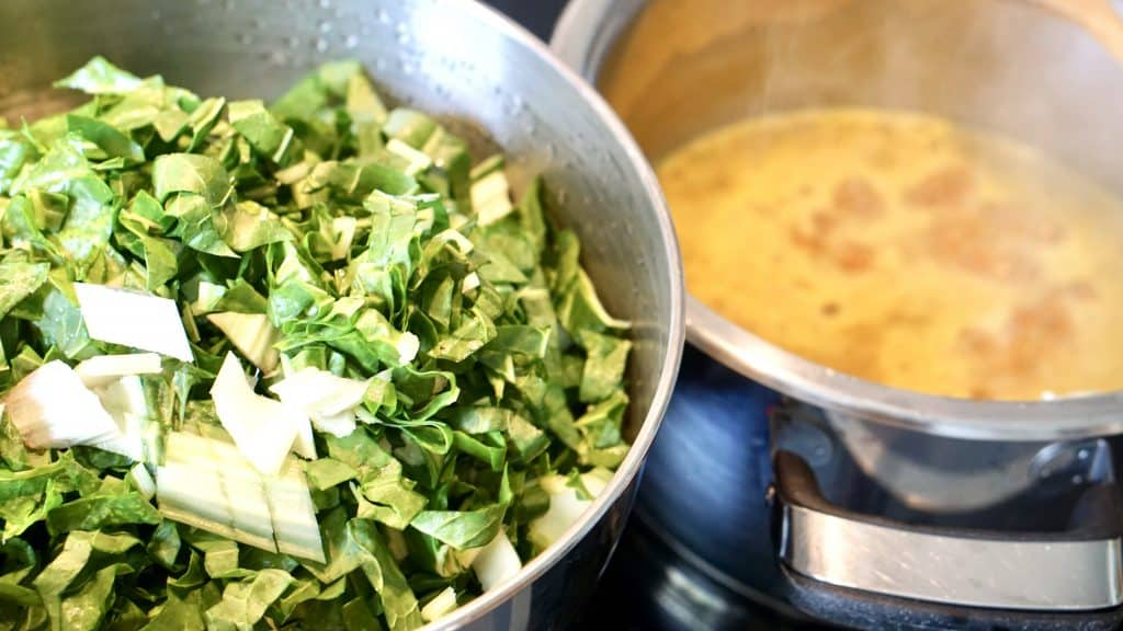 "Vegan Silverbeet Zucchini Curry - ""Vitamins fresh from the Garden"" by Truefoodsblog"
