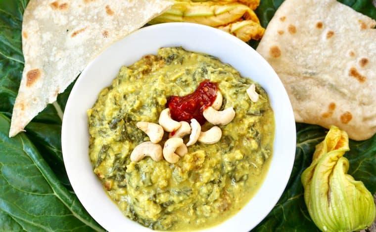 egan Silverbeet Zucchini Curry by Truefoodsblog