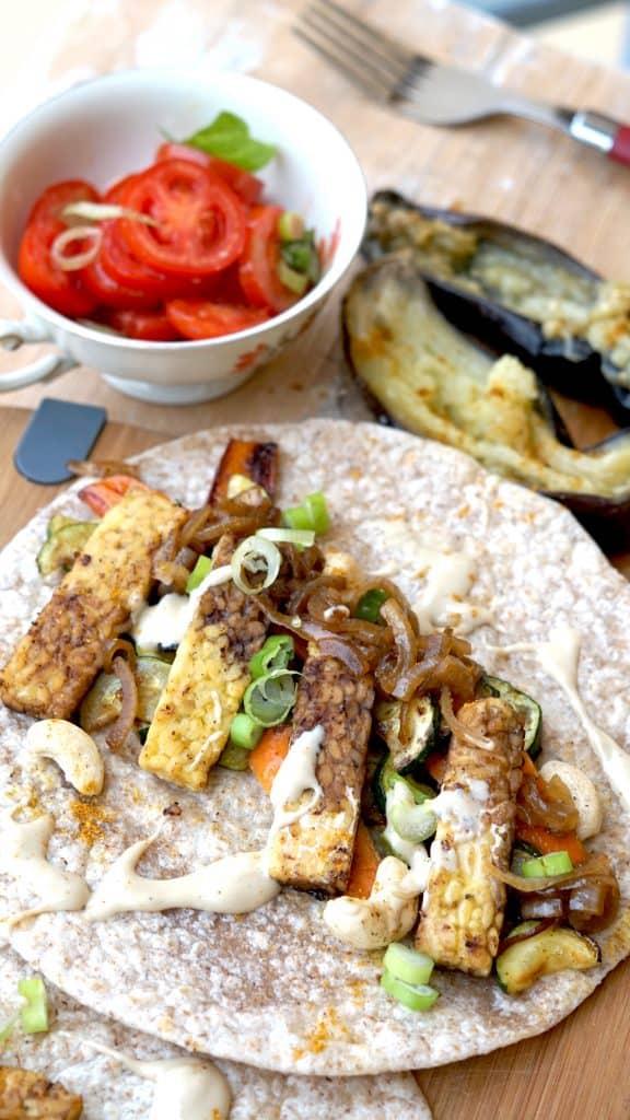 Vegan Tempeh Wrap - Throwback Bali special by Truefoodsblog 2
