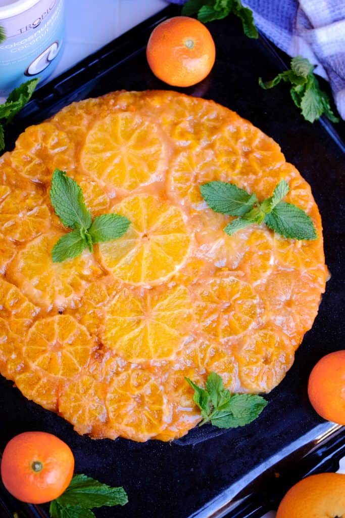 Vegan Upsidedown Orange Cake by Truefoodsblog