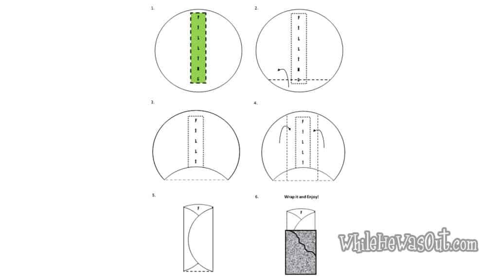 tortilla folding how to (by whilehewasout blog)