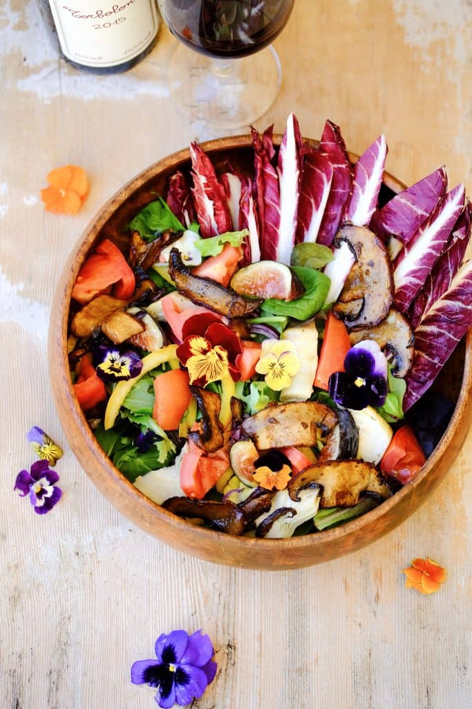 Salate Miste with Portobello by Truefoodsblog