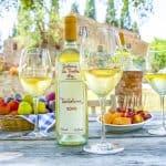 Italy, Castiglion Fibbochi, Fattoria La Vialla, Winetasting at the Piazzeta
