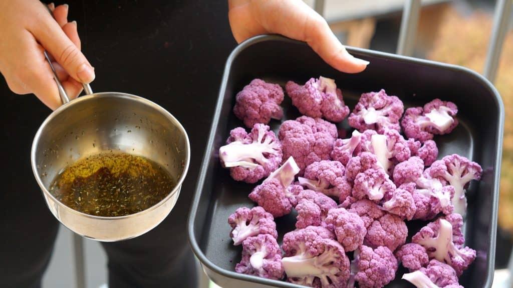 Vegan Purple Cauliflower Wings by Truefoodsblog 4