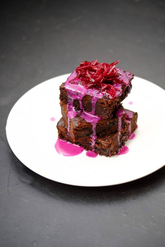 Purple Rain SauerCrowd Brownie by Truefoodsblog