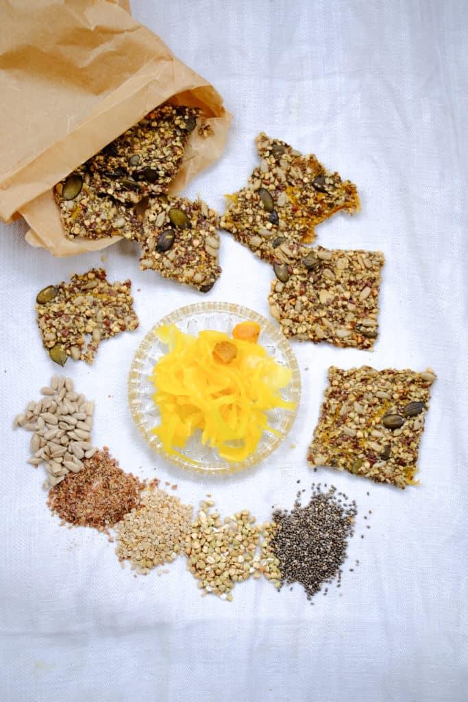 Sauerkraut Seed Cracker by Truefoodsblog
